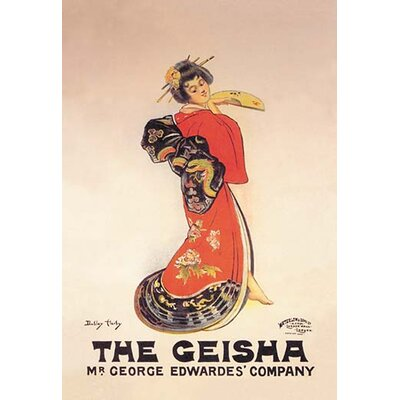 The Geisha: Mr. George Edwardes' Company by Dudley Hardy Vintage Advertisement by Buyenlarge