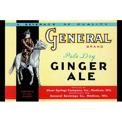 'General Brand Pale Dry Ginger Ale' Vintage Advertisement by Buyenlarge