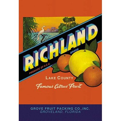 Richland Brand Citrus Vintage Advertisement by Buyenlarge