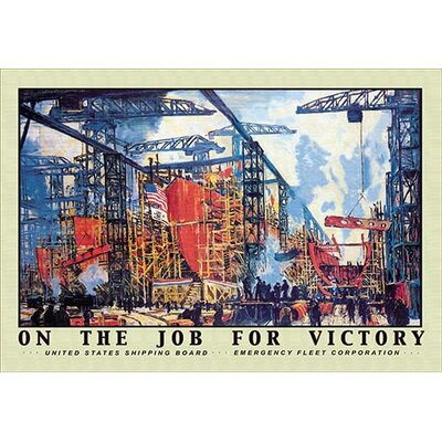 On the Job for Victory by Jonas Lie Vintage Advertisement by Buyenlarge