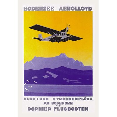 'Bodensee Aerolloyd Flying Boat Tours' by Marcel Dornier Vintage Advertisement by Buyenlarge