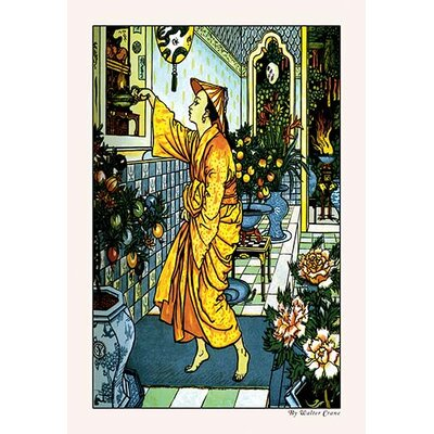'Aladdin Secures the Lamp' by Walter Crane Painting Print by Buyenlarge