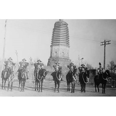 '7 Chinese Gendarmes in Peaked Hats Are Mounted' Photographic Print by Buyenlarge