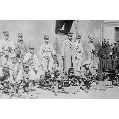 'Machine Gunners in Mexico City' Photographic Print by Buyenlarge