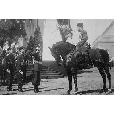 'Nicholas I on Horseback is Saluted By His Military' Photographic Print by Buyenlarge