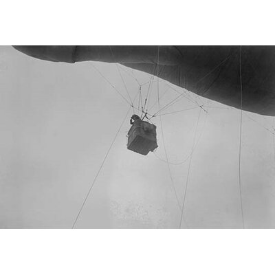 'Military Observer Hangs from A Balloon By Guide Wires Looking Over Battlefield' Photographic ...