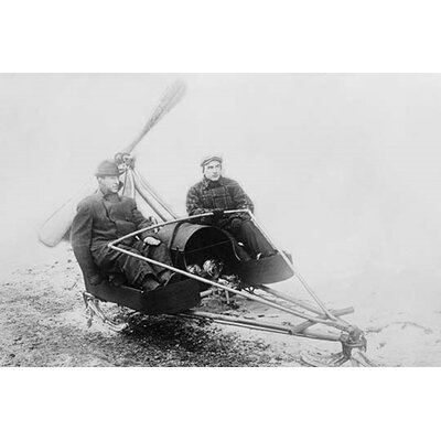 'Ice Auto Has Two Man Sled' Photographic Print by Buyenlarge