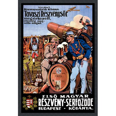 Buyenlarge Beer from the Spring Hops Has Arrived the Enemy is Surrendering by Foldes Vintage Advertisementon Wrapped Canvas