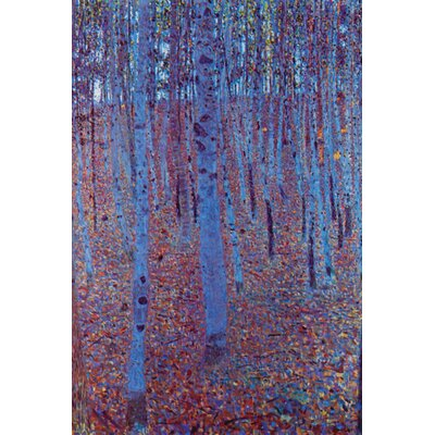 Buyenlarge Beech Forest Painting Print on Wrapped Canvas