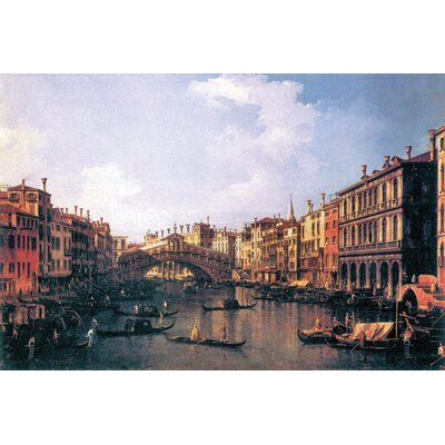 Buyenlarge The Rialto Bridge Painting Print on Wrapped Canvas