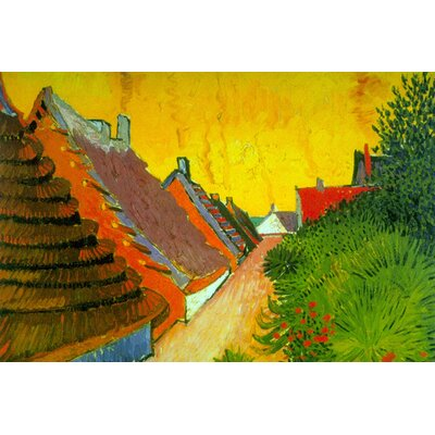 Buyenlarge Saintes-Maries Road Through the Town by Vincent Van Gogh Painting Print on Wrapped Canvas