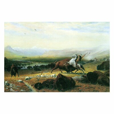 Buyenlarge Last Buffalo Painting Print on Wrapped Canvas