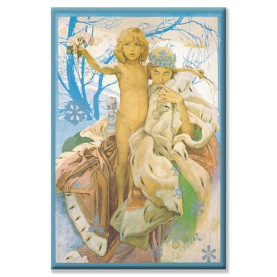 Buyenlarge Snow Queen and Child by Alphonse Maria Mucha Painting Print on Wrapped Canvas