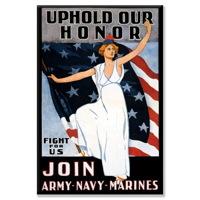 Buyenlarge Uphold Our Honor Vintage Advertisement on Wrapped Canvas