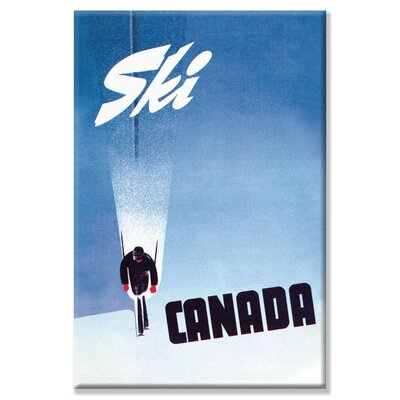 Buyenlarge Ski Canada Vintage Advertisement on Wrapped Canvas