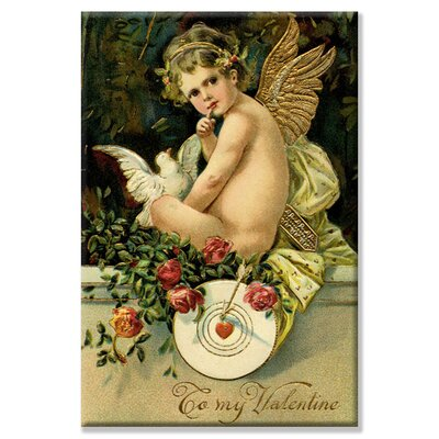 Angel Girl with Dove Vintage Advertisement on Wrapped Canvas by Buyenlarge