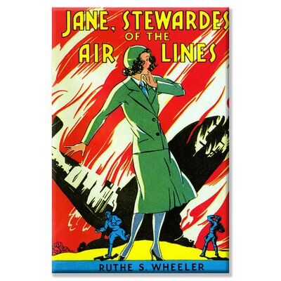Buyenlarge Jane, Stewardes of The Air Lines by Ruth S. Wheeler Vintage Advertisement on Wrapped Canvas