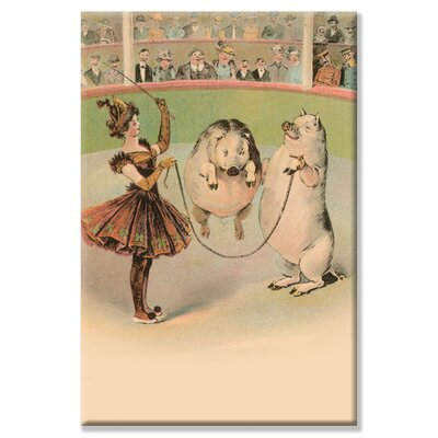 Buyenlarge Jump Rope Pig Graphic Art on Wrapped Canvas