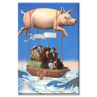 Buyenlarge Pig Balloon Party Graphic Art on Wrapped Canvas