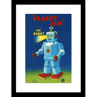 Flashy Jim The Robot Framed Vintage Advertisement by Buyenlarge