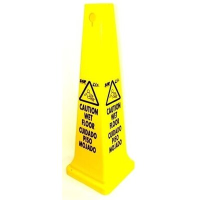 Syr Tall Caution Sign Cone in English and French