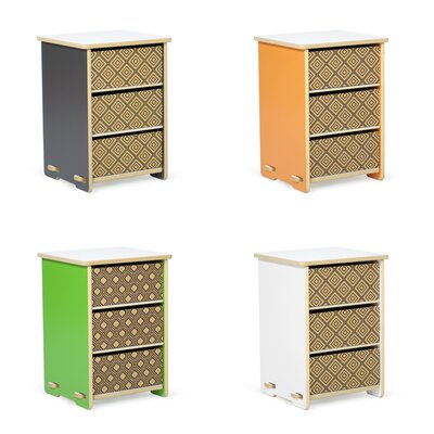 Sprout Kids 3 Drawer Nightstand