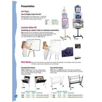 Testrite Enamel Print Rack Book Truck