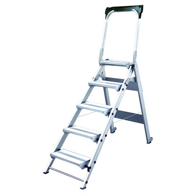 Xtend+Climb 5.58 ft Aluminum Folding Safety Step Ladder with 375 lb. Load Capacity