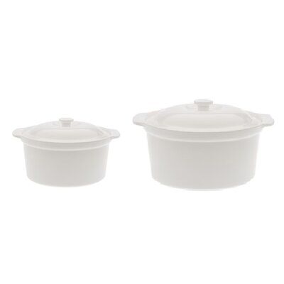 2 Piece Round Casserole Set by Maxwell & Williams