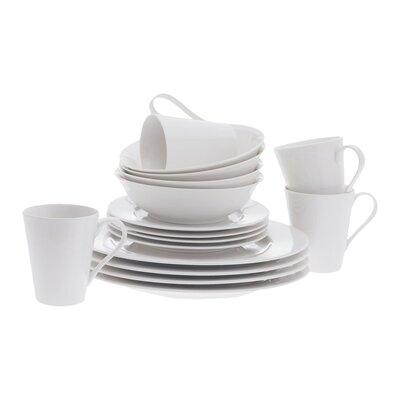 White Basics Cosmopolitan 16 Piece Dinnerware Set by Maxwell & Williams