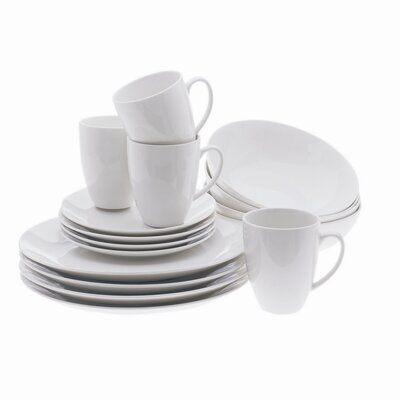 White Basics Coupe 16 Piece Dinnerware Set by Maxwell & Williams