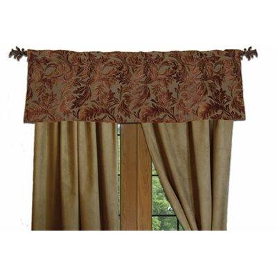 "Wooded River Nutmeg Leaf 54"" Curtain Valance"