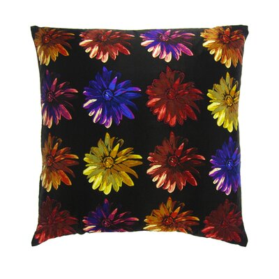 Flower Power Throw Pillow by Filos Design