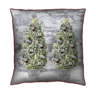 Filos Design Holiday Elegance Trees Throw Pillow