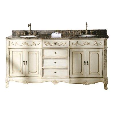 """Classico 72"""" Double Bathroom Vanity Set Product Photo"""