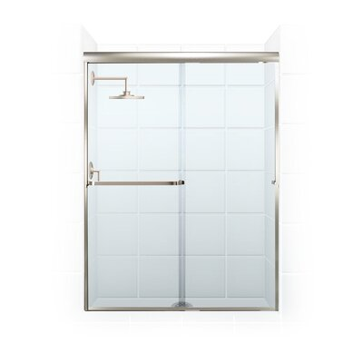 "Paragon Series 46"" x 65"" Sliding Door Frameless Bypass Shower Enclosure Product Photo"