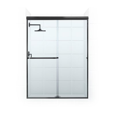 "Paragon Series 56"" x 69"" Frameless Bypass Shower Enclosure Product Photo"