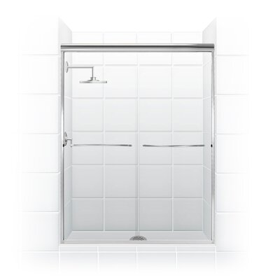 "60"" Frameless Paragon Bypass Shower Enclosure Product Photo"