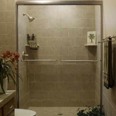 "Paragon 38"" x 38"" x 58"" Sliding Door Tub Enclosure Product Photo"