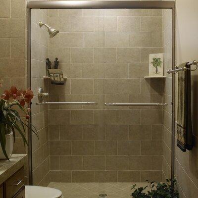 "Paragon 38"" x 38"" x 58"" Sliding Door Tub Enclosure with Base Product Photo"