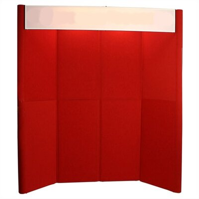 Exhibitor's Hand Book Hero H10 Full Height Exhibit Panel with Curved Edges and Backlit Header