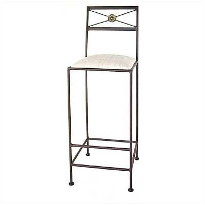 "Grace Collection Neoclassic 30"" Bar Stool with Cushion"