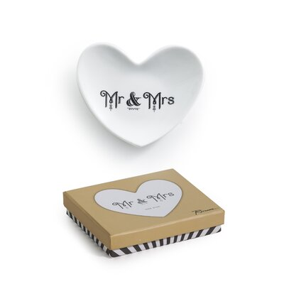 Cross My Heart Mr. & Mrs. Heart Dish by Rosanna