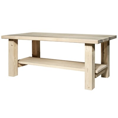 Homestead Coffee Table with Shelf by Montana Woodworks®