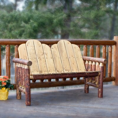 Outdoor Rustic Log Bench