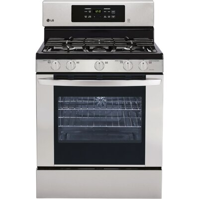5.4 Cu. Ft. Gas Convection Range in Stainless Steel Product Photo