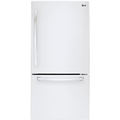 16.3 cu. ft. Bottom Freezer Refrigerator in White Product Photo