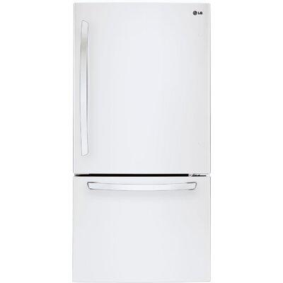 16.3 cu. ft. Bottom Freezer Refrigerator in White Product Photo