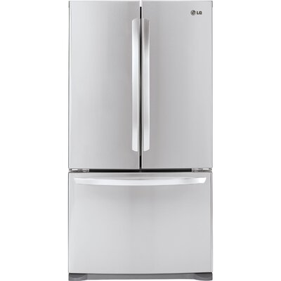 14.7 cu. ft. French Door Refrigerator in White Product Photo