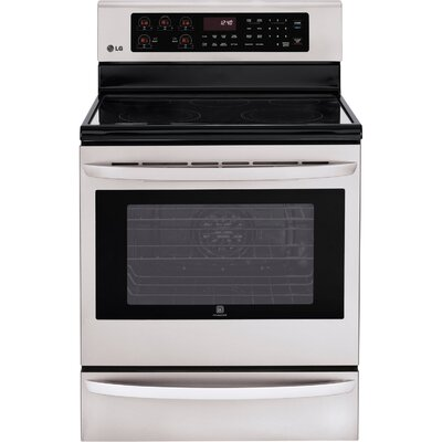 6.3 Cu. Ft. Electric Convection Range in Stainless Steel Product Photo